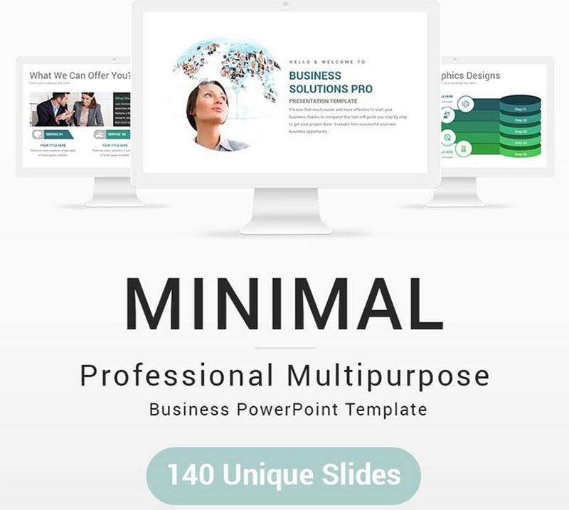 Plantilla PowerPoint minimalista