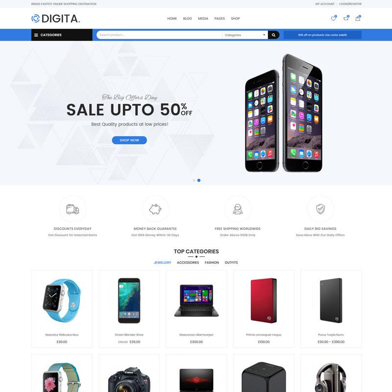 Digita - Tema WooCommerce para Tienda de Electrónicos