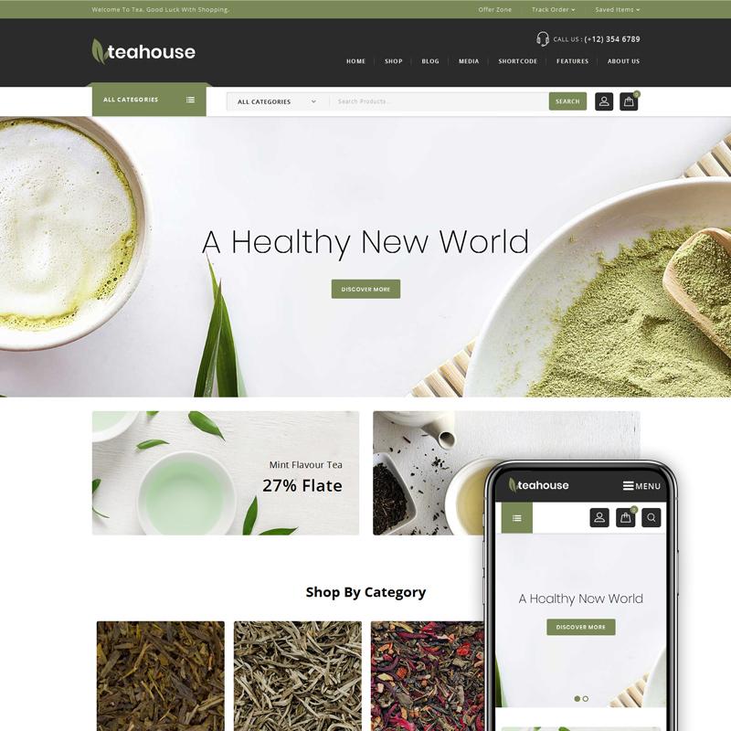 Teahouse - Tema WooCommerce para Tienda de Té y Especias