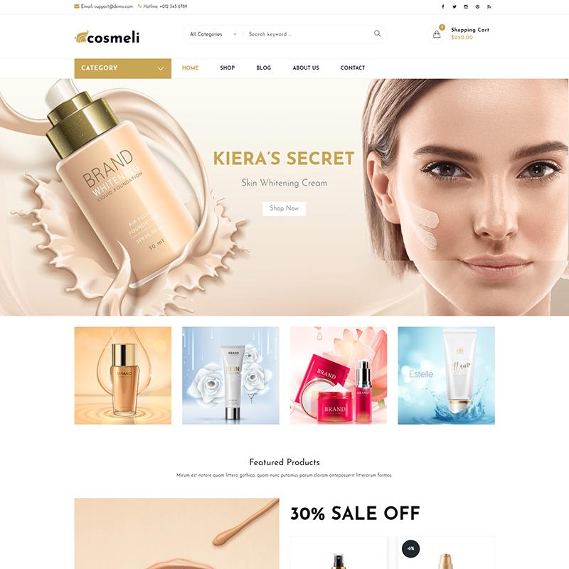 Cosmeli - Tema WooCommerce para Tienda de Cosméticos