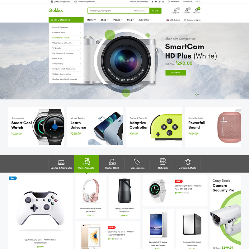 Gokko - Tema WooCommerce para Tienda de Dispositivos Electrónicos