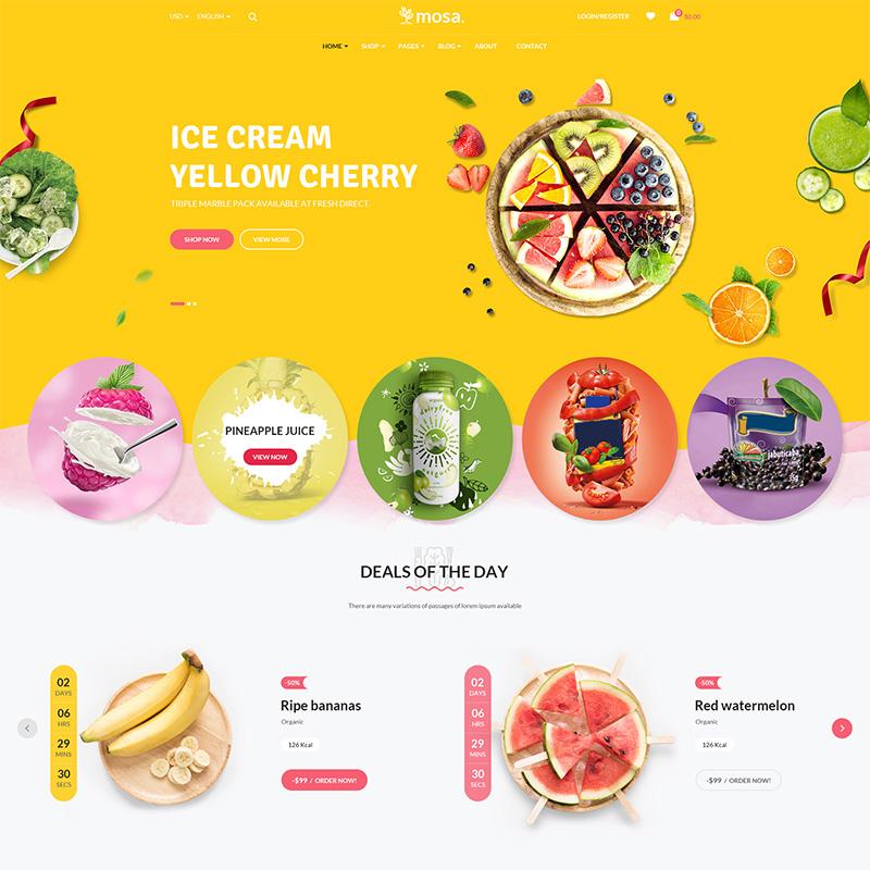 Mosa - Tema WooCommerce para Tienda de Alimentos Orgánicos