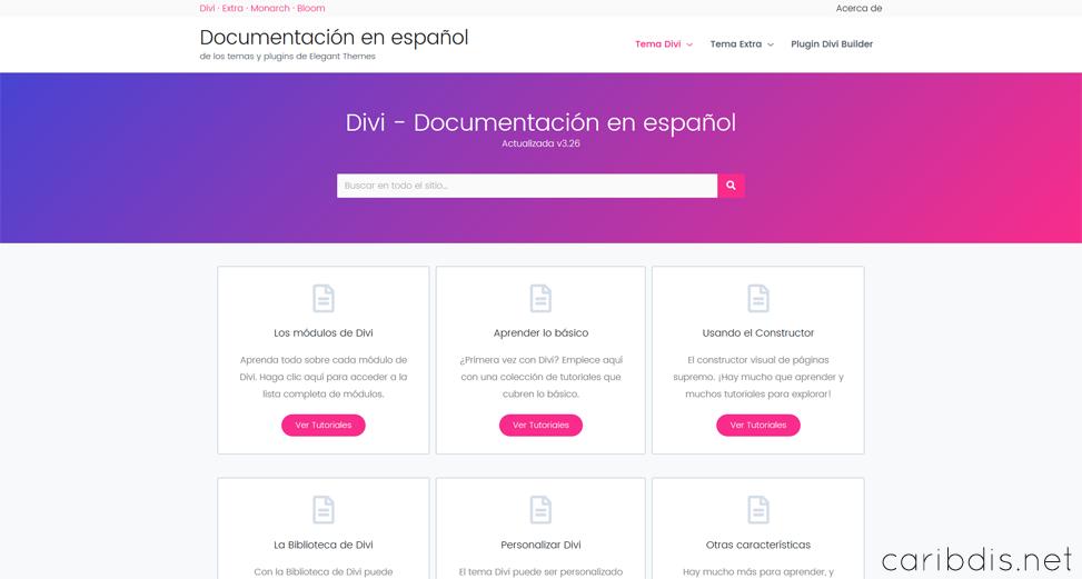 Divi - Documentación en línea