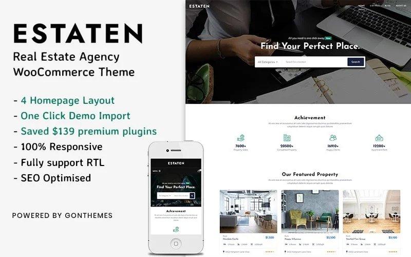 Estaten - Tema WooCommerce de productos y servicios