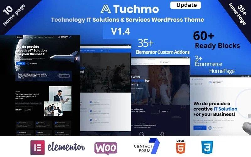 Tuchmo - Tema WordPress para empresas de soluciones y servicios TI