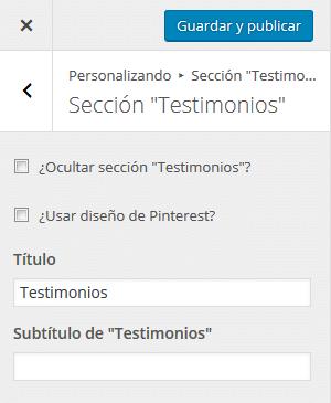 """Tutorial de Zerif Lite - Sección """"Testimonios"""""""