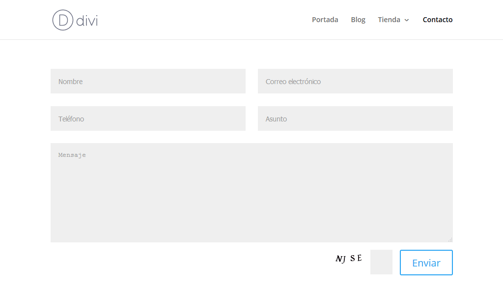 Divi 2.6 con CF7 y Really Simple CAPTCHA