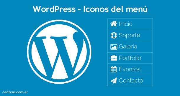 Usar iconos en los elementos del menú de WordPress
