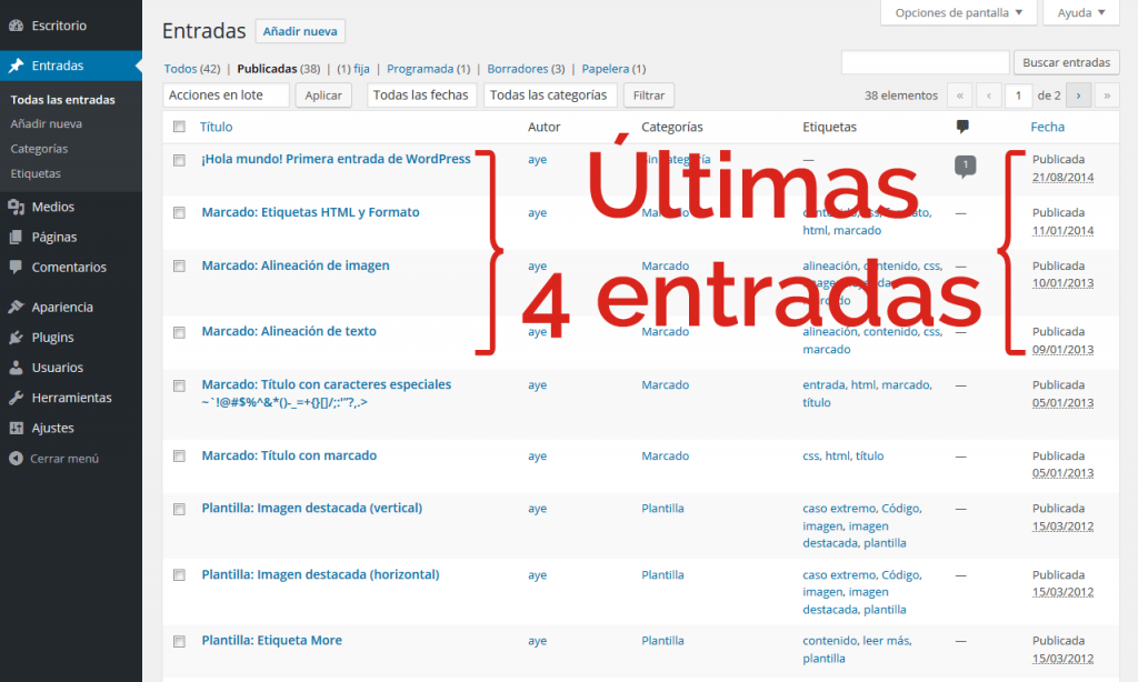 Zerif - Últimas noticias - Entradas WordPress