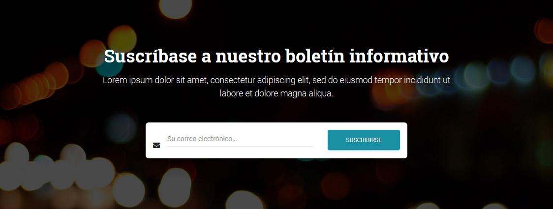 Hestia - Sección Suscribirse Web