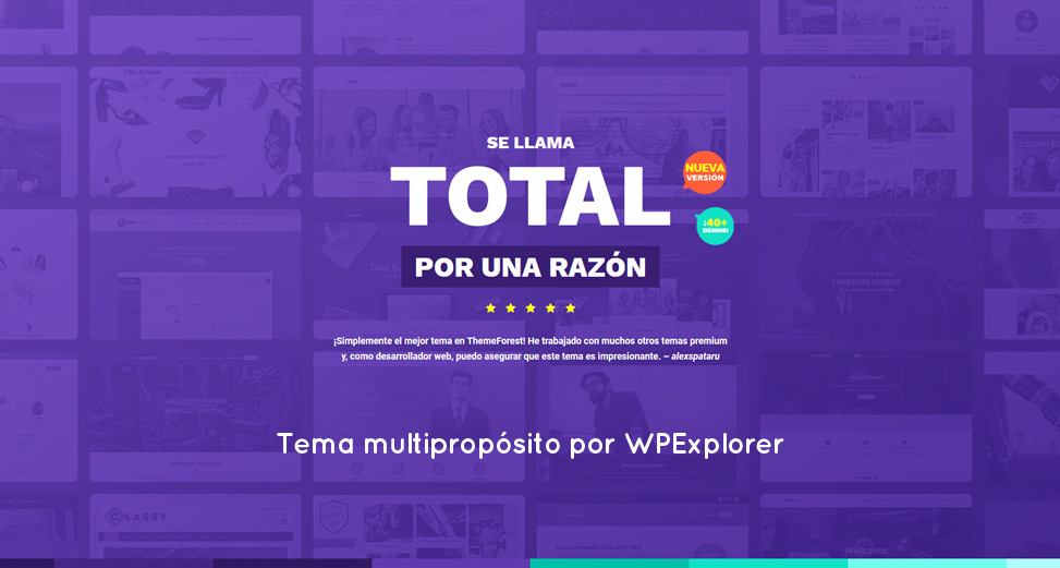 Total: el tema multipropósito para WordPress, por WPExplorer