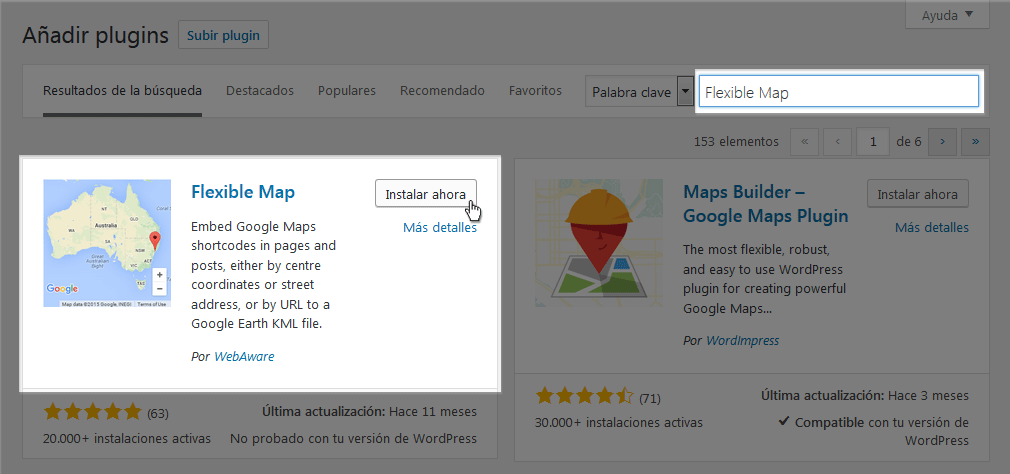 Instalar plugin Flexible Map