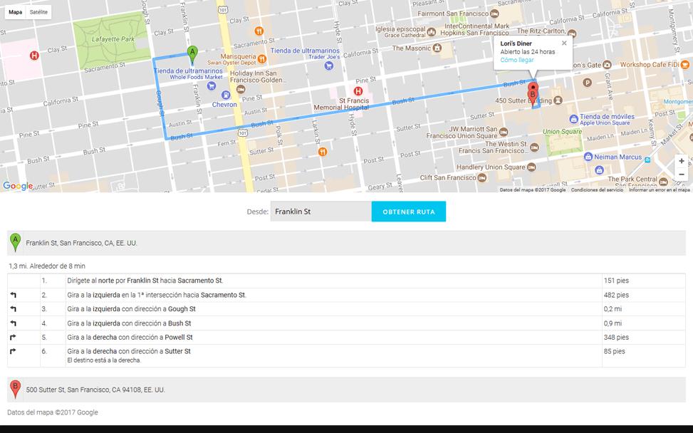 OnePress - Instrucciones Mapa