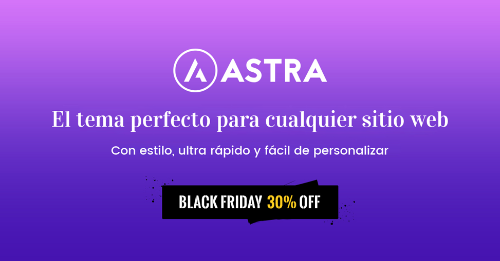 Astra Pro Black Friday 2017