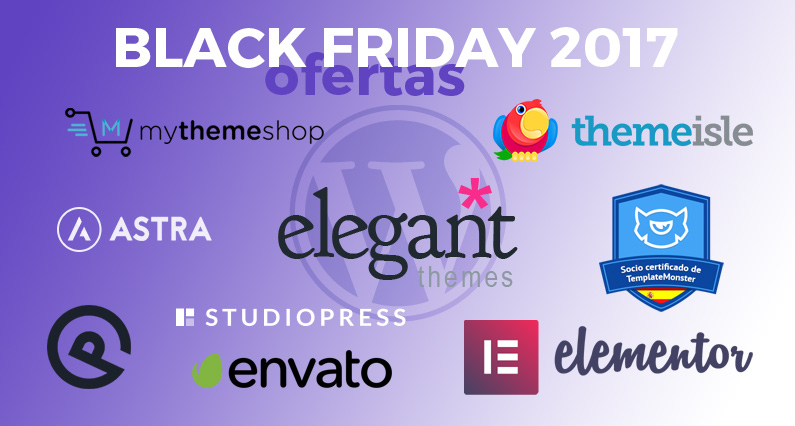 Ofertas de Black Friday WordPress 2017