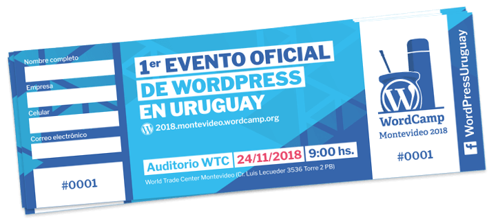 Eentradas WordCamp Montevideo