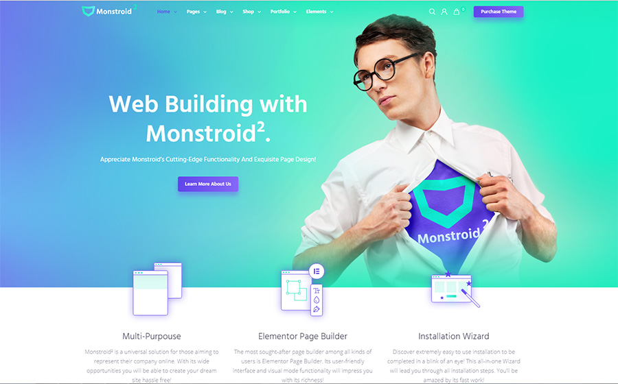 Monstroid2 – Tema WordPress multipropósito y modular compatible con Gutenberg