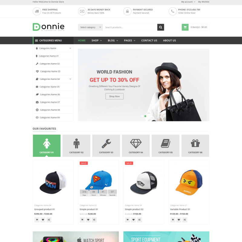 Donnie - Tema WooCommerce Universal