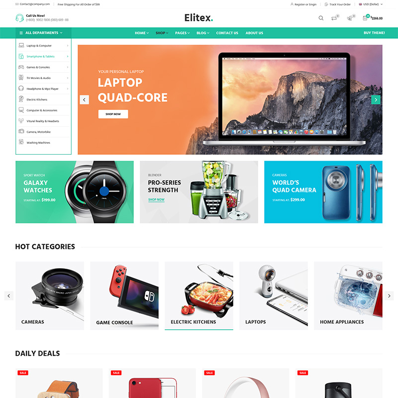 Elitex - Tema WooCommerce Multipropósito
