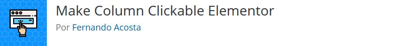 Make Column Clickable Elementor