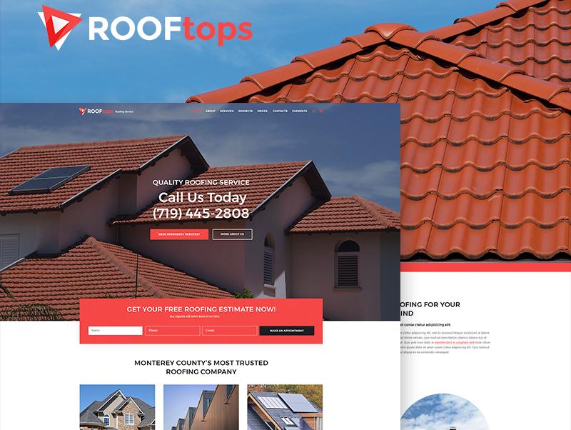 Tema De WordPress ROOFtops - Roofing Service