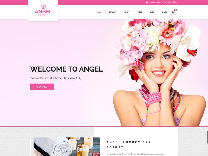 Tema De WordPress Angel - Beauty Salon Store WooCommerce Elementor